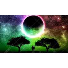 "5D DIY Full Diamond Painting ""Moonlight landscape tree"""