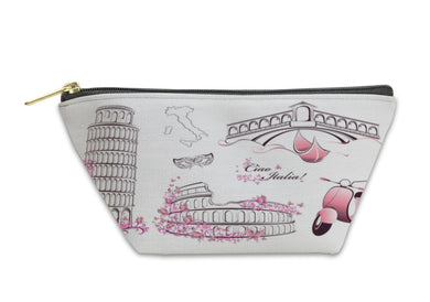 Accessory Pouch, Famous Landmarks Of Italy Rome Venice Pisa