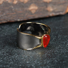 Vintage Natural Re-sizable Red Opal Ring