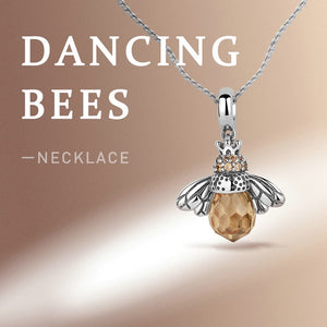 Lovely Orange Bee Necklace