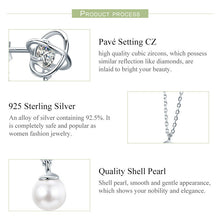Silver & Pearl Planet Drop Earrings