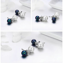 Black & White Pearl Drop Earrings
