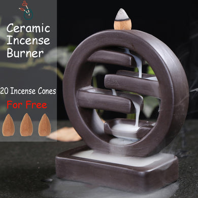Round Ceramic Smoke Incense Holder