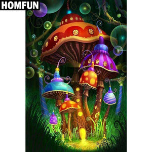 "5D DIY Diamond Painting ""Mushroom House"""