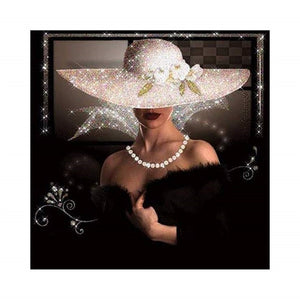 "5D DIY Diamond Painting ""Lady in Black"""