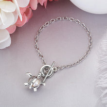 Silver Pearl Cage Bracelet