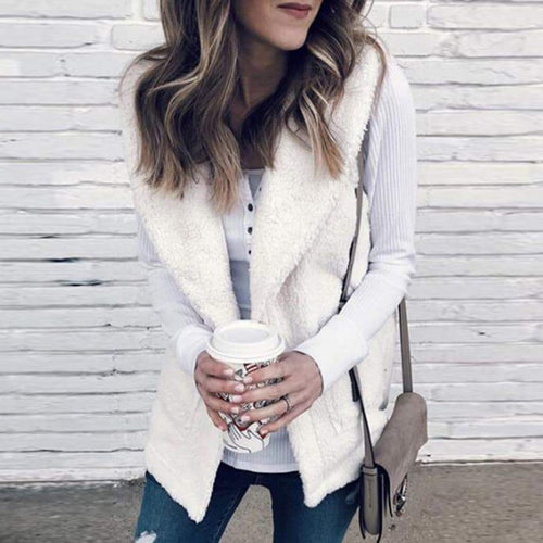 Frayed Trim  Plain Outerwear