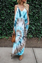 Load image into Gallery viewer, Spaghetti Strap  Print Maxi Dresses