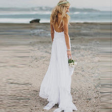 Load image into Gallery viewer, Lace Sling Wedding Party Dress