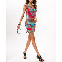 Load image into Gallery viewer, Ethnic Printed Slim Vacation Dress