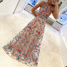Load image into Gallery viewer, Elegant Embroidery Sleeveless Expansion Evening Dress