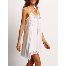 Load image into Gallery viewer, Fashion Bohemia Printing Strap Irregular Beach Vacation Dress