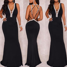 Load image into Gallery viewer, 2018 New Style Sexy V-Neck Evening Dress