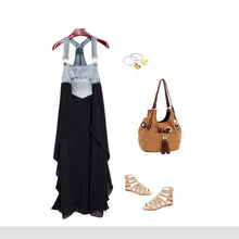Load image into Gallery viewer, Fashionable Chiffon Skirt Loose Denim Dress