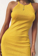 Load image into Gallery viewer, Halter  Backless  Plain  Sleeveless Bodycon Dresses