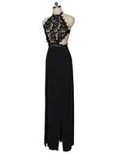 Load image into Gallery viewer, Round Neck  Decorative Lace  Printed Maxi Dress