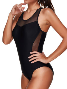 Lightweight  High Stretch  Plain One Piece For Women
