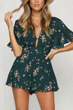 Load image into Gallery viewer, Casual Fashion Floral Print Backless Jumpsuits