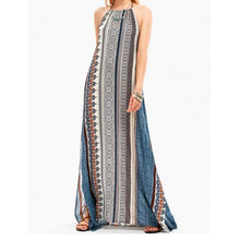 Load image into Gallery viewer, Bohemia Style Sleeveless Backless Long Maxi Dresses