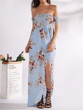 Load image into Gallery viewer, Off Shoulder  Printed Maxi Dress