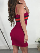 Load image into Gallery viewer, Spaghetti Strap  Plain Bodycon Dress