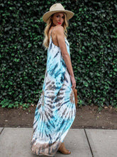 Load image into Gallery viewer, Printed Spaghetti-Neck Maxi Dress