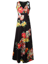 Load image into Gallery viewer, Surplice  Printed Maxi Dress