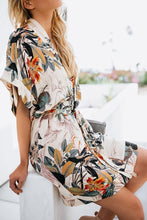 Load image into Gallery viewer, V Neck  Belt  Printed  Short Sleeve Casual Dresses
