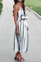 Load image into Gallery viewer, Bohemia Sleeveless Two-Piece Stripe Maxi Dress