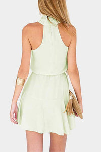 Sexy Halter Neck Sleeveless Skater Dress