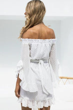 Load image into Gallery viewer, Sexy Flounce Off Shoulder Long Sleeves Casual Dress