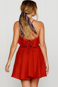 Sexy Flounce Sleeveless Skater Dress