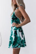 Load image into Gallery viewer, Sexy Fashion Backless Floral Print Skater Dress
