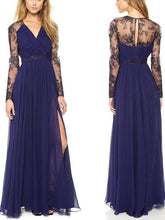 Load image into Gallery viewer, Fashion Lace Embroidery Maxi Dress