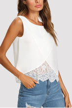Load image into Gallery viewer, Crew Neck  Decorative Lace  Plain  Vests