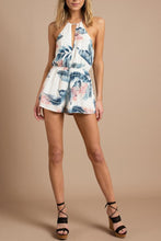Load image into Gallery viewer, Halter  Cross Straps  Back Hole  Print  Sleeveless  Playsuits