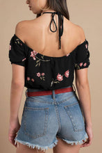 Load image into Gallery viewer, Halter  Backless  Exposed Navel  Print  Blouses