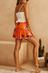 Flared Floral Printed Skirts