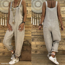 Load image into Gallery viewer, Cotton/LINE  Slim Thin  Wide Leg Jumpsuit