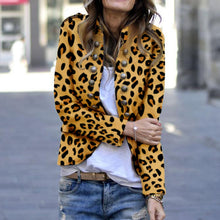 Load image into Gallery viewer, Fashion Leopard Print Double-Breasted Coat