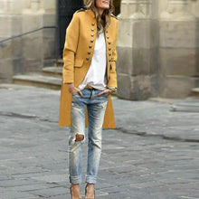 Load image into Gallery viewer, Fashion Pure Colour Long Sleeve Coat