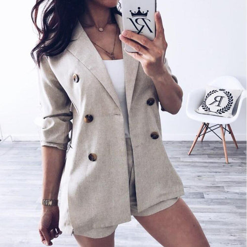 Suit Jacket Shorts Two-Piece Suit