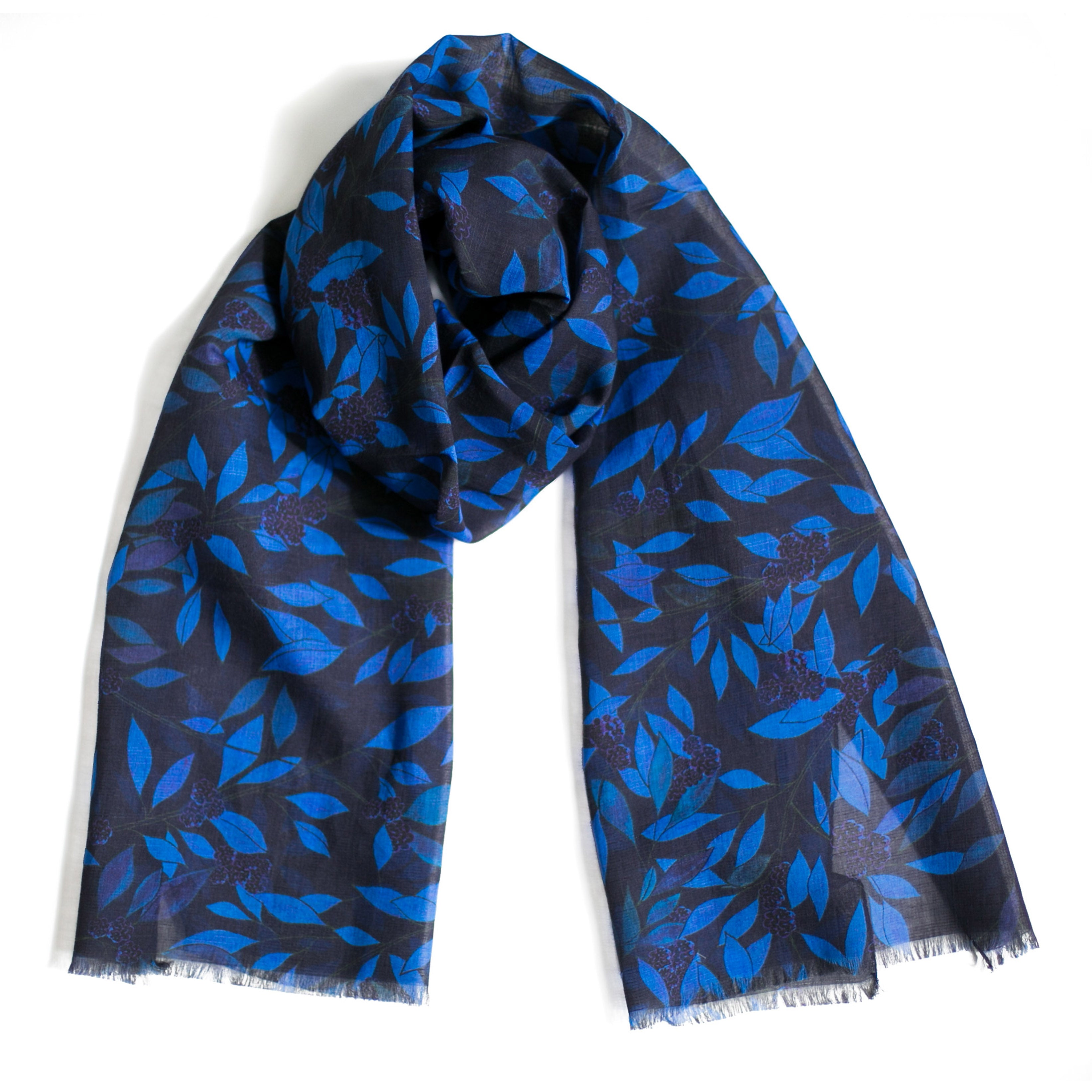 Foulard Forêt - lin coton modal cachemire, made in Italy