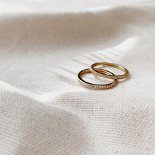 Pave Rings Gold and Silver
