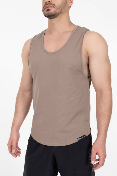 Hybrid Tank Top - Brown