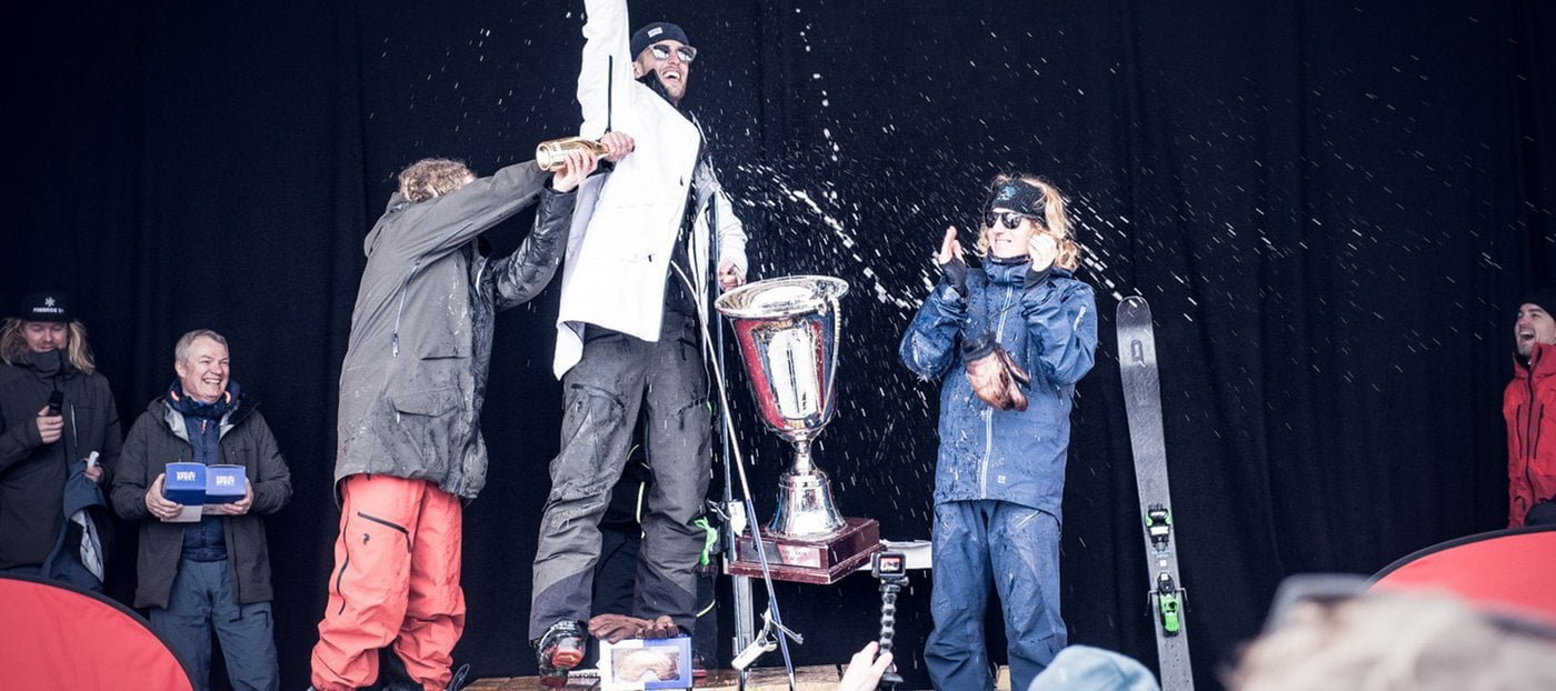 Rasmus DJ won 2nd place at Freeride DM 2018