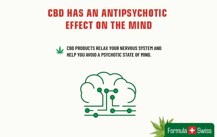 CBD has an antipsychotic effect on the mind