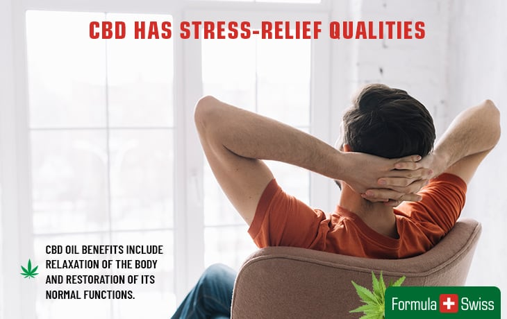CBD has stress-relief qualities