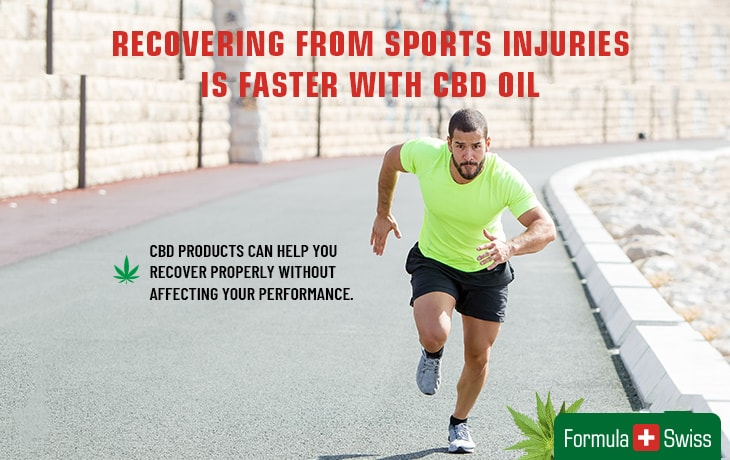 Recovering from sports injuries is faster with CBD oil.