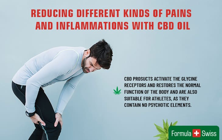Reducing different kinds of pains and inflammations with CBD oil